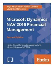 eBook Microsoft Dynamics NAV 2016 Financial Management - Second Edition Free books