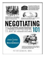 eBook Negotiating 101 From Planning Your Strategy to Finding a Common Ground an Essential Guide to the