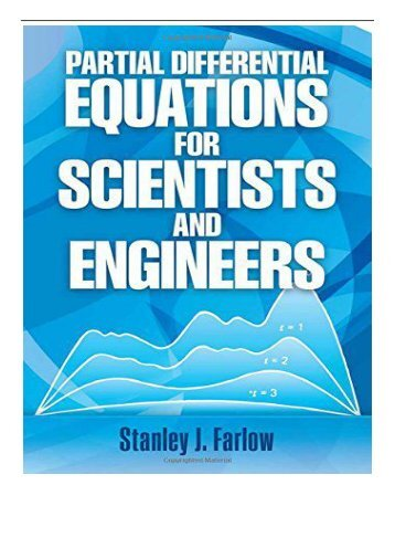eBook Partial Differential Equations for Scientists and Engineers 9 Dover Books on Mathematics Free