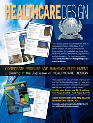Coming in the July issue of - Healthcare Design Magazine