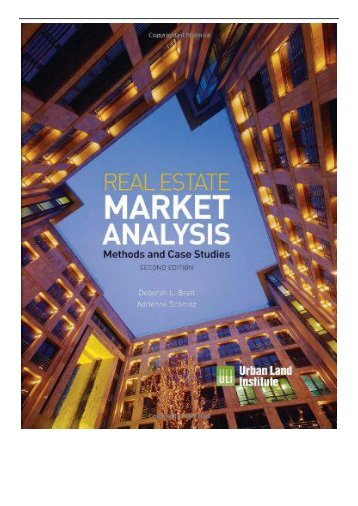 eBook Real Estate Market Analysis Methods and Case Studies Second Edition Free eBook