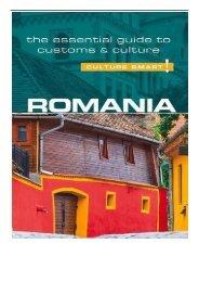 eBook Romania - Culture Smart! The Essential Guide to Customs  Culture Free eBook
