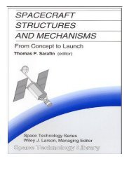 eBook Spacecraft Structures and Mechanisms  From Concept to Launch Free eBook