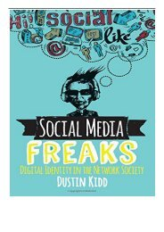 eBook Social Media Freaks Digital Identity in the Network Society Free eBook