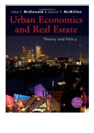 eBook Urban Economics and Real Estate - Theory and Policy 2E Wiley Desktop Editions Free eBook