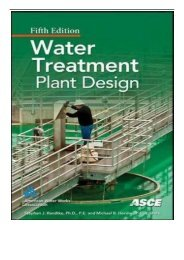 eBook Water Treatment Plant Design Fifth Edition Free online