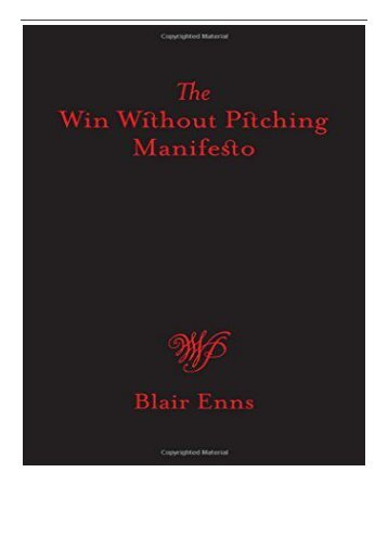 PDF Download A Win Without Pitching Manifesto Free books