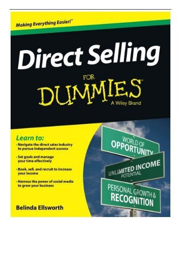 PDF Download Direct Selling FD For Dummies Free online