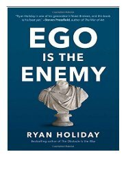 PDF Download Ego Is the Enemy Free books