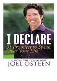 PDF Download I Declare 31 Promises to Speak Over Your Life Free eBook