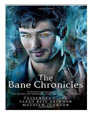 PDF Download The Bane Chronicles Free eBook