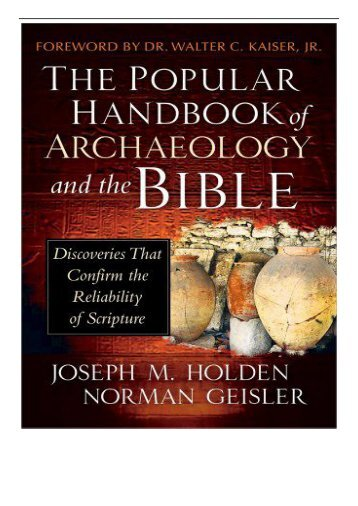 PDF Download The Popular Handbook of Archaeology and the Bible Free eBook