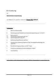 Einladung zur Gemeindeversammlung vom 20 ... - Gemeinde Bättwil