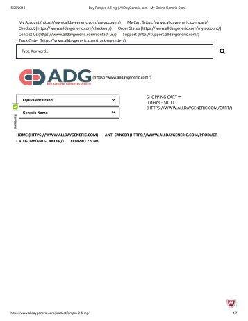 Buy Fempro 2.5 mg _ AllDayGeneric.com - My Online Generic Store