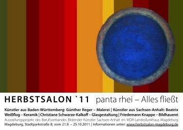 HERBSTSALON `11 panta rhei – Alles fließt - BBK Sachsen-Anhalt eV