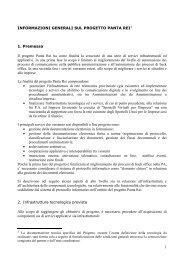 1 INFORMAZIONI GENERALI SUL PROGETTO PANTA REI1 1 ...