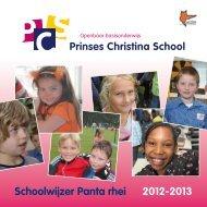 Schoolwijzer Panta rhei 2012-2013 - OBS Prinses Christina