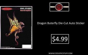 Dragon Buterfly Die-Cut Auto Sticker - Epic Vision LLC