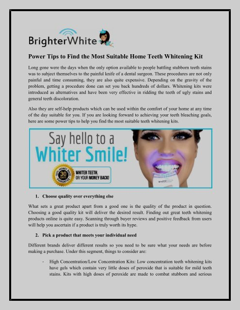 Power Tips To Find The Most Suitable Home Teeth Whitening Kits