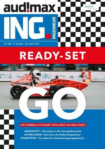 audimax ING. 7_8/2018 - Karrieremagazin für Ingenieure