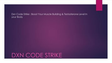 Dxn Code Strike : http://www.bluesupplement.org/dxn-code-strike/