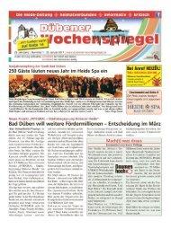 Dübener Wochenspiegel - Ausgabe 01 - 25_01_2017