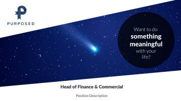 Purposed PD - Head of Finance and Commercial