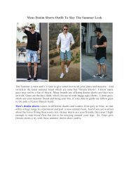 Mens Denim Shorts Outfit To Slay The Summer Look
