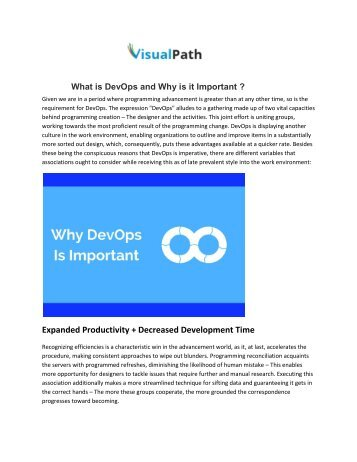 What is DevOps and Why is it Important | DevOps Online Training in Hyderabad