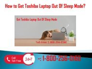 1-800-256-0160 Get Toshiba Laptop Out Of Sleep Mode