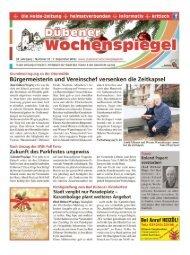 Dübener Wochenspiegel - Ausgabe 23 - 7_12_2016