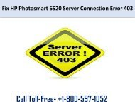 HP Photosmart 6520 Server Connection Error 403