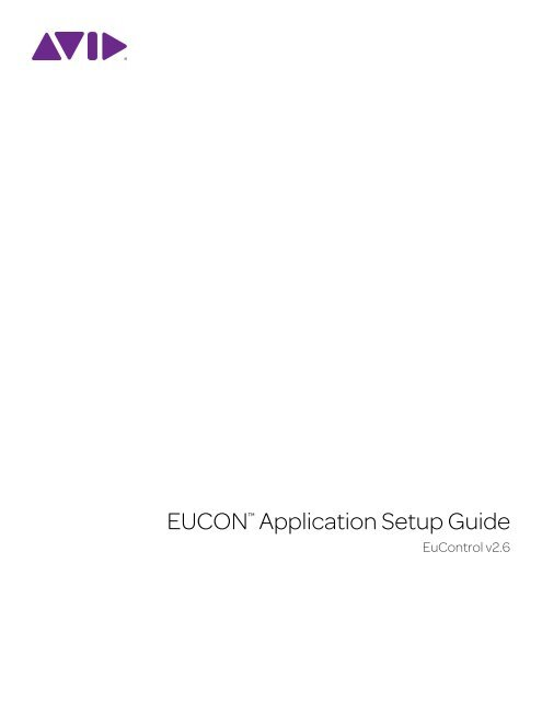 EUCON Application Setup pdf - Euphonix