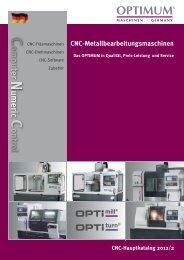 CNC-Metallbearbeitungsmaschinen - Optimum Maschinen