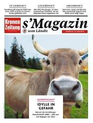 s'Magazin usm Ländle, 10. Juni 2018