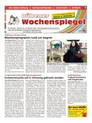 Dübener Wochenspiegel - Ausgabe 20 - 19_10_2016