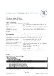 WS 2010/11 - Institut für Romanistik - HU Berlin