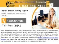 Norton Internet Security Support Number 1-833-445-7444