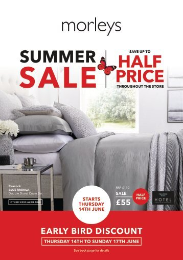 Morleys Summer Sale 2018