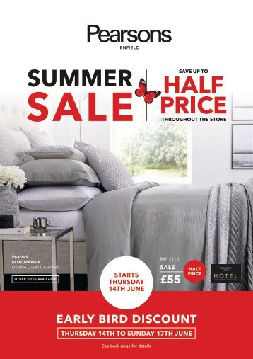 Pearsons Summer Sale 2018
