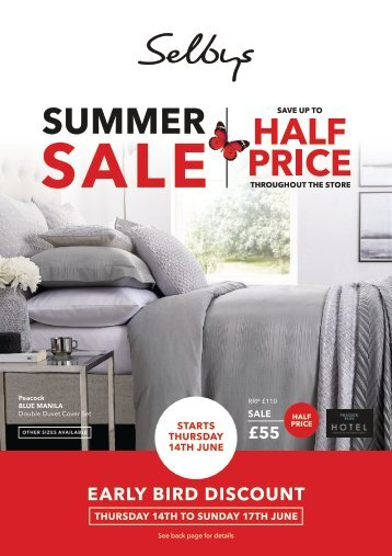 Selbys Summer Sale 2018