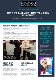 Diet Tips & Advice - New You Body Sculpting