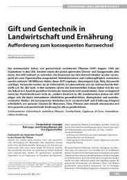 gift und gentechnik in landwirtschaft und Ernährung - UMG-Verlag
