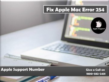 Fix Apple Mac Error 254