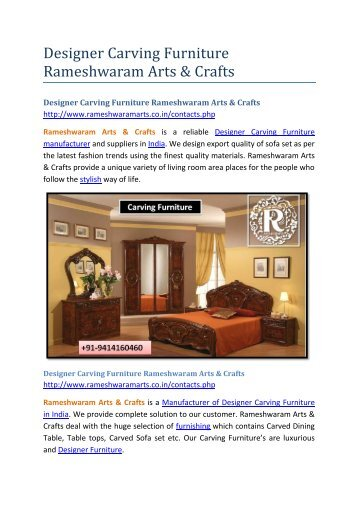 Designer Carving Furniture Rameshwaram Arts & Crafts