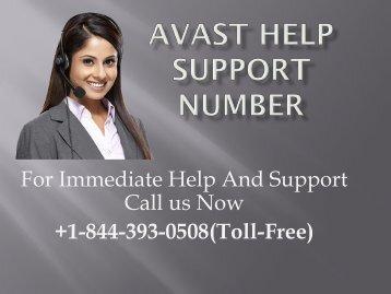 Avast Help +1-844-393-0508