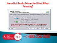 1-800-256-0160 Fix A Toshiba External Hard Drive Without Formatting