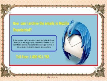 How  can I archive the emails in Mozilla Thunderbird?