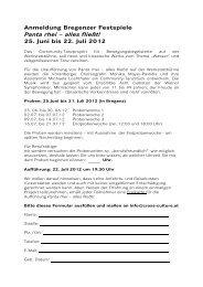 Anmeldung Bregenzer Festspiele Panta rhei – alles fließt!