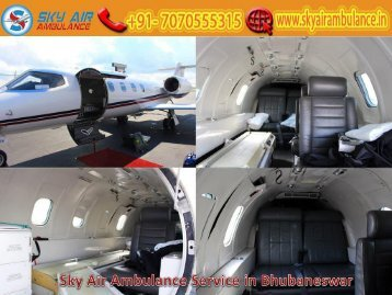 Obtain Sky Air Ambulance Service in Bhubaneswar with Full ICU Setup